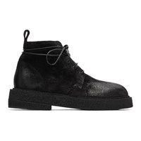 Marsell Black Suede Crepe Sole Boots