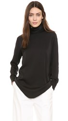 Dkny Long Sleeve Mock Neck Shirt Black
