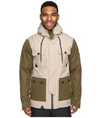 686 Parklan Cult Insulated Jacket Khaki Color Block Men's Coat Brown