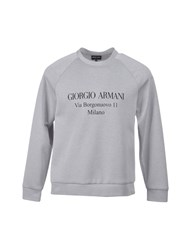Giorgio Armani Sweatshirts Light Grey