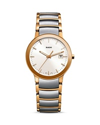 Rado Centrix Stainless Steel And Rose Gold Pvd Watch 28Mm Gray Rose