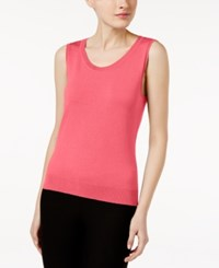 August Silk Scoop Neck Shell Fandango Pink