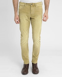 Scotch And Soda Faded Mustard Yellow Corduroy 5 Pocket Trousers
