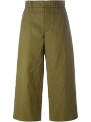 Sofie D'hoore Wide Leg Cropped Trousers Green