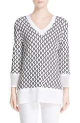 St. John Women's Collection Pointelle Knit Sweater