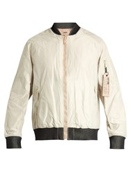 Adidas Day One Reversible Quilted Bomber Jacket Light Beige