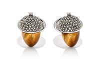 Jan Leslie Men's Acorn Cufflinks Silver