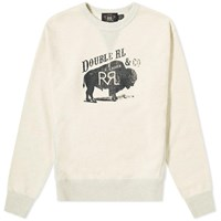 Rrl Bison Logo Print Crew Sweat Neutrals