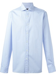 Z Zegna Dotted Print Shirt Blue