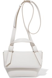 Acne Studios Musubi Milli Small Knotted Leather Shoulder Bag White