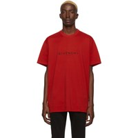 Givenchy Red Paris T Shirt