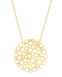 Gurhan 24K Gold Lace Pendant Necklace