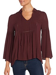 Collective Concepts Solid Gathered Top Burgundy