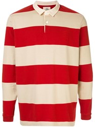 Kent And Curwen Miller Striped Rugby Shirt Brown