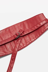 Topshop Ring Tie Obi Belt Red