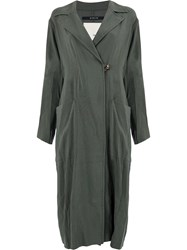 Song For The Mute Off Centre Button Dress Green