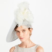 Bundle Maclaren Millinery Willow Side Disc Occasion Hat Ice Blue Ivory