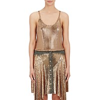 Paco Rabanne Women's Chain Mail Tank Gold