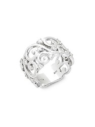 Effy Diamond And 14K White Gold Intricate Ring
