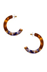 Lele Sadoughi Broadway Hoop Earrings Brown