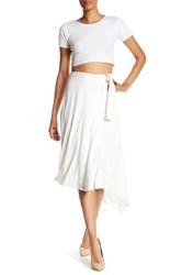 Matty M Side Tie Skirt White