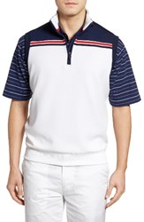 Bobby Jones Men's Xh2o Stretch Quarter Zip Golf Vest Summer Navy
