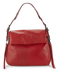 Aimee Kestenberg Bali Leather Hobo Bag Lipstick Red