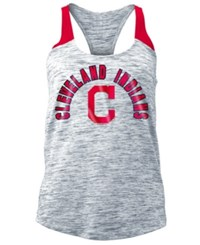 5Th And Ocean Women's Cleveland Indians Space Dye Tank Navy Red