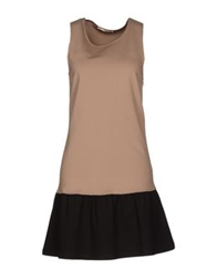 Nioi Short Dresses Light Brown