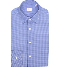 Slowear Gingham Regular Fit Cotton Shirt Blue