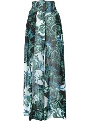 Just Cavalli Floral Print Maxi Skirt Black