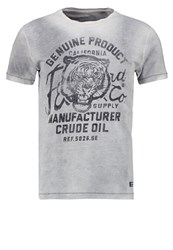 Petrol Industries Print Tshirt Light Steal Grey