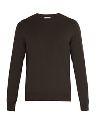 Tomas Maier Cashmere Knitted Sweater Khaki