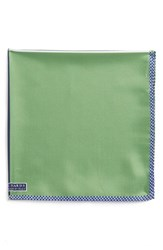 Men's J.Z. Richards Silk Pocket Square Green