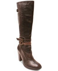 Two Lips Sleek Tall Boots Women's Shoes Brown
