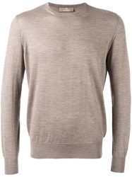 Cruciani Crew Neck Sweater Men Cashmere 52 Nude Neutrals
