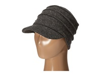 San Diego Hat Company Sdh0518 Wool Cadet With Right Side Flower Charcoal Caps Gray