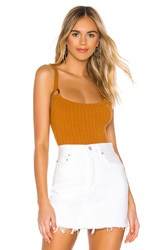 Privacy Please Coronado Bodysuit Burnt Orange