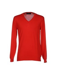 Les Copains Sweaters Red