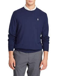 Ralph Lauren Polo Golf By Long Sleeve Crew Neck Jumper French Navy
