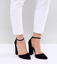 Asos Design Pebble Extra Wide Fit Pointed High Heels Black