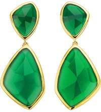 Monica Vinader Siren 18Ct Gold Plated Onyx Cocktail Earrings