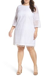 Vince Camuto Plus Size Women's Eyelet Bell Sleeve Shift Dress