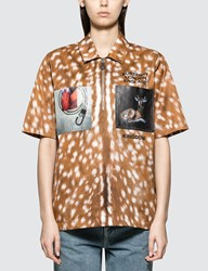 Burberry Animal Print Woven Shirt