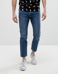 House Of Holland X Lee Zip Powell Slim Jeans Mid Wash Blue