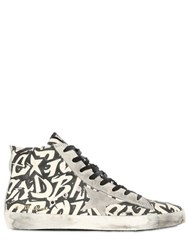Golden Goose Francy Paintable Cotton Canvas Sneakers