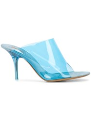Yeezy Pvc Clear Open Toe Mule Pump Blue