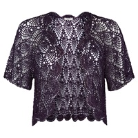 Jacques Vert Crochet Cover Up Dark Purple