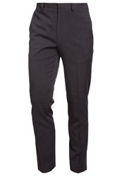Burton Menswear London Suit Trousers Dark Grey