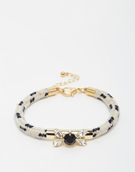 Nali Rope Bracelet With Gem Black